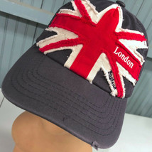 London England Union Jack Retro Distressed Adjustable Baseball Cap Hat - $15.59
