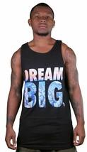 Yea Nice Uomo Nero Dream Big Logo Grafico Estate Canottiera Muscolo Camicia Nwt