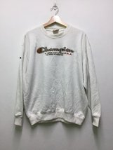 Vintage Champion Big Embroidery Logo SpellOut Sweatshirt White Colour De... - $90.00