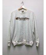 Vintage Champion Big Embroidery Logo SpellOut Sweatshirt White Colour De... - $90.00