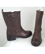 New Cole Haan Moto Boots 8.5 Chestnut Brown Mid Calf - $50.00