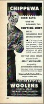 1948 Print Ad Chippewa Woolen Hunting Shirts Chippewa Falls,WI - $7.56