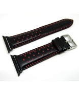 38mm Red Leather Replacement Watch Band Strap Made For Apple iWatch Series - $39.99