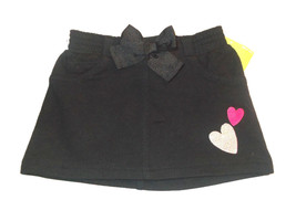 Circo Infant Girls Black Skirt with Silver and Pink Hearts and Bow Size ... - $6.30