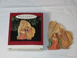HALLMARK Keepsake Ornament 1995 A Child has come the World Rejoices! Bab... - $10.68