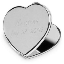 Engraved Heart Compact Mirror Engraved Women Gifts Personalized Gifts - $21.14