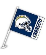 """San Diego Chargers Set of 2 11"""" X 14"""" 2 Sided Car Flags with Free Wall M... - $13.86"""