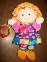 "Lamaze 11"" Plush Doll Crinkle Rattle Babys 1st Soft Doll Lovey Daycare P... - $15.61"