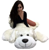 American Made Giant Stuffed 5 Foot Dog 60 Inch Soft Large Plush Puppy Wh... - $127.10