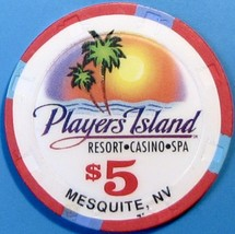 $5 Casino Chip, Players Island, Mesquite, NV. W49. - $6.50