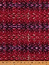 Stripes Diamonds Geometric Silk Road Ombre Pink Cotton Fabric Print BTY ... - $11.49