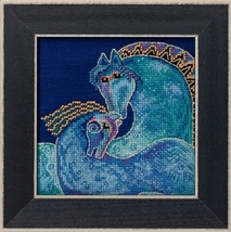 Mediterranean Mares 2017 Horses Collection LINEN cross stitch kit Laurel Burch M - $17.10
