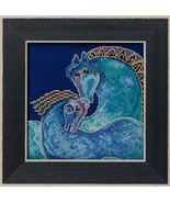 Mediterranean Mares 2017 Horses Collection LINEN cross stitch kit Laurel... - $17.10