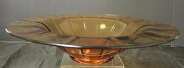 Vintage Fenton Amber Glass Center * Console Bowl - $33.24
