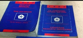 1993 Dodge Ram Van Wagon Shop Workshop Service Repair Manual Set W Power... - $44.50