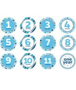 "Blue Glitter 4"" Monthly Birthday Stickers/Case of 144 - $57.53"
