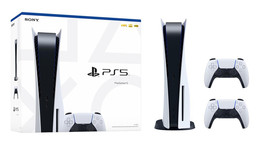 Newest PS5 Bundle - Includes PlayStation DISC Console and One Extra Controller image 1