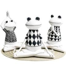 Living room home yoga frog ornaments resin crafts frog animal decorations - $19.99+