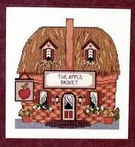 Apple Basket v1 Marlene Whiting NEW Cross Stitch Pattern Leaflet - $4.47