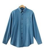 Croft & Barrow Stonewash Blue Denim Button Down Shirt 4XB Mens Big and Tall - $39.99
