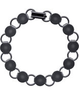 5 Gun Metal BLACK BRACELET FORMS BLANK Findings with 11 Round pads discs... - £9.42 GBP
