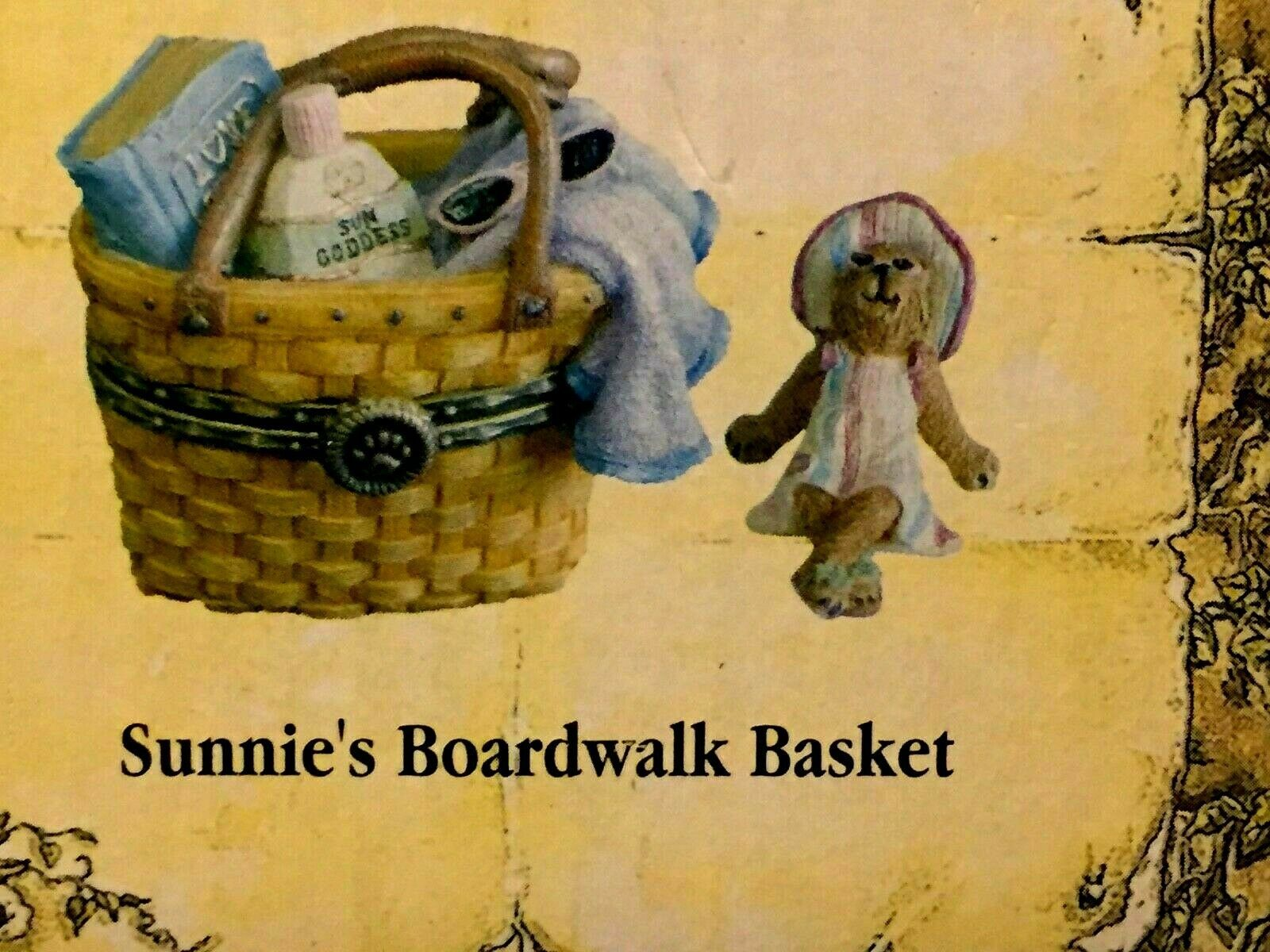 "Boyds Treasure Box ""Sunnie's Boardwalk Basket"" #392135LB-LONGABERGER LE- New"