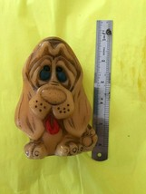 Vintage Hand Painted Animal Delights Hound Dog Candle sad eyes British H... - $8.44