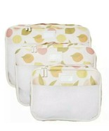 Calpak Packing Cubes 3 Piece Set Tutti Fruity Citrus Luggage Organizer - $23.99