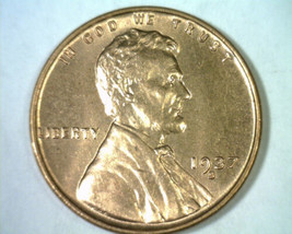 1937-S LINCOLN CENT PENNY CHOICE UNCIRCULATED / GEM RED CH. UNC. / GEM R... - $15.00