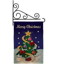 Merry Christmas Burlap - Impressions Decorative Metal Fansy Wall Bracket Garden  - $33.97