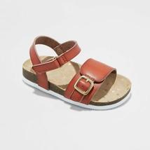 Toddler Girls' Berdie Footbed Sandals - Cat & Jack Cognac - $18.00