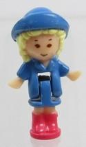 1991 Vintage Polly Pocket Doll Funtime Clock (blue) Rainy Day Polly Blue... - $8.00