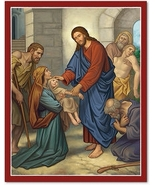 """The Divine Physician Icon 3"""" x 4""""  Wooden Plaques With Lumina Gold - $29.95"""