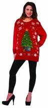 Christmas Sweater Classic Tree Fancy Dress Up Halloween Adult Costume Ac... - £19.51 GBP+