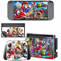 Super Mario Odyssey Nintendo Switch Console Joy-Con Skin Vinyl Skin Decals Cover - $9.16