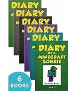 Diary of a Minecraft Zombie Book Vol 1-6 Herobrine Books 6 Books Bundle ... - $52.75