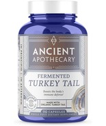 Ancient Apothecary Fermented Turkey Tail Mushroom Supplement 90 Caps Ash... - $29.99