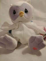 """1998 Precious Moments Tender Tails Plush White 8"""" Owl ENESCO with Tag - $7.79"""