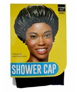 Red Shower Cap Waterproof Soft Vinyl Exterior Reusable X-Large Black #HSH01 - $4.90