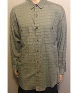 Men's Patagonia Long Sleeve Button Front Plaid Shirt XL Green Tan Black ... - $31.92