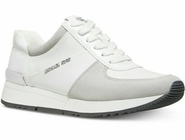 Michael Michael Kors Allie Trainer Optic White Sneakers Size 9.5 - $89.09