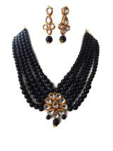 Indian Traditional Black Pearls Kundan Bollywood Wedding Fashion Jewelry... - $15.59