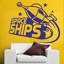 Wall Decal Sticker space ships flying rocket star air gravity planet - $59.85