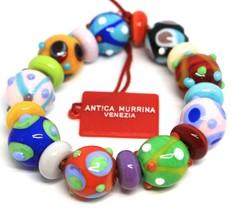 Bracelet Antica Murrina Venezia, Murano Glass, Spheres, Discs, Polka Dot - $66.96
