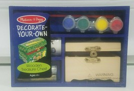 Melissa & Doug Decorate Your Own Wooden Treasure Chest Craft Kit #3095 New - $11.63