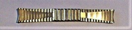 Vintage NOS STONEWALL Gold-tone Top Stainless Steel Partial Flex Watch Band - $29.95