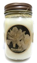 Gardenia 16oz All Natural Country Jar Soy Candle - Apx Burn Time 144 Hou... - $13.99