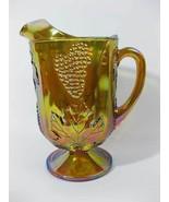 Indiana Carnival Glass Pitcher Harvest Grape Ir... - $15.00