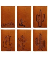 Cactus Abstract Handmade Genuine Leather Passport Holder Case HLT_01 - $25.99