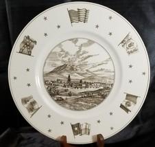 Vintage WEDGWOOD England Texas Plate El Paso Neiman Marcus - $140.20